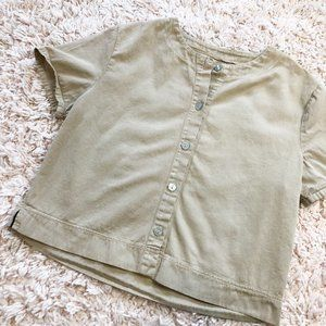 Vintage No Brand Button Up Short Sleeve T-Shirt